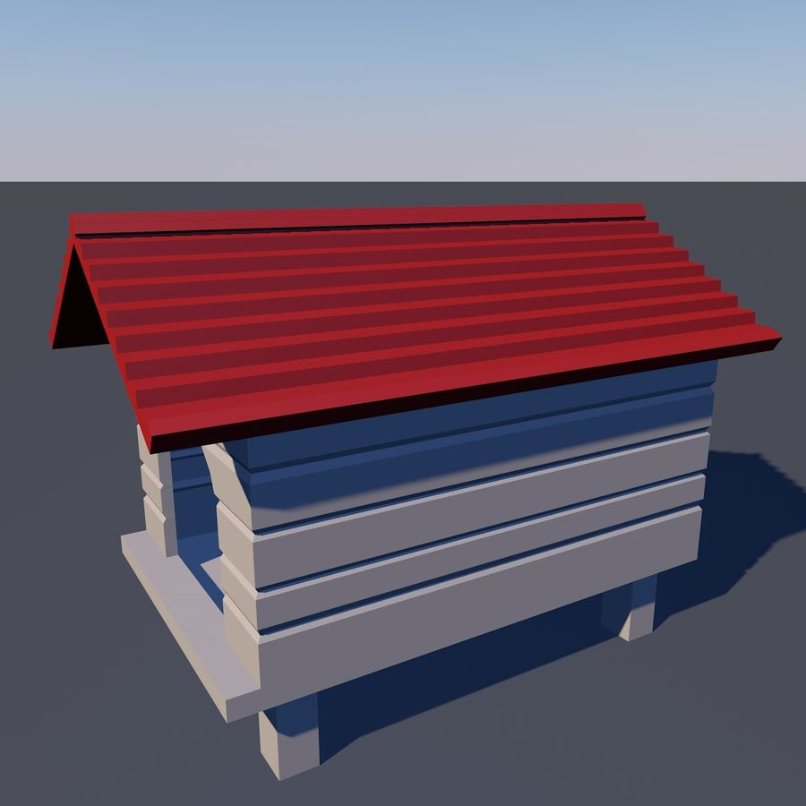 dog house royalty-free 3d model - Preview no. 2