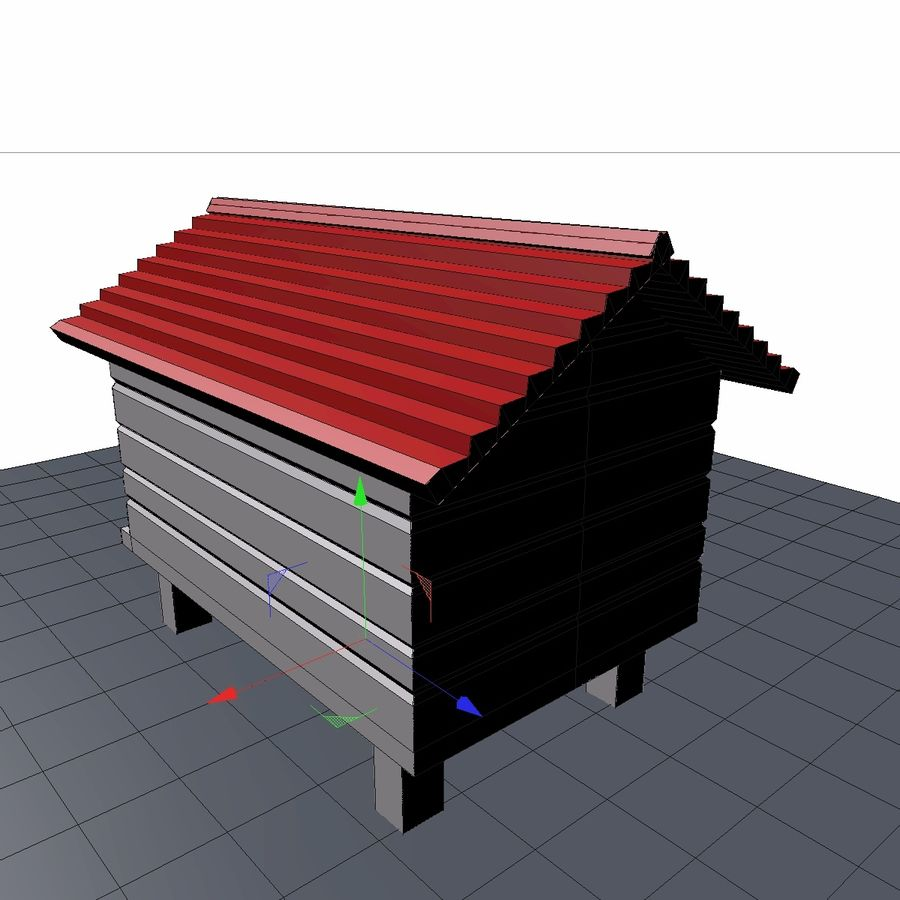 dog house royalty-free 3d model - Preview no. 5