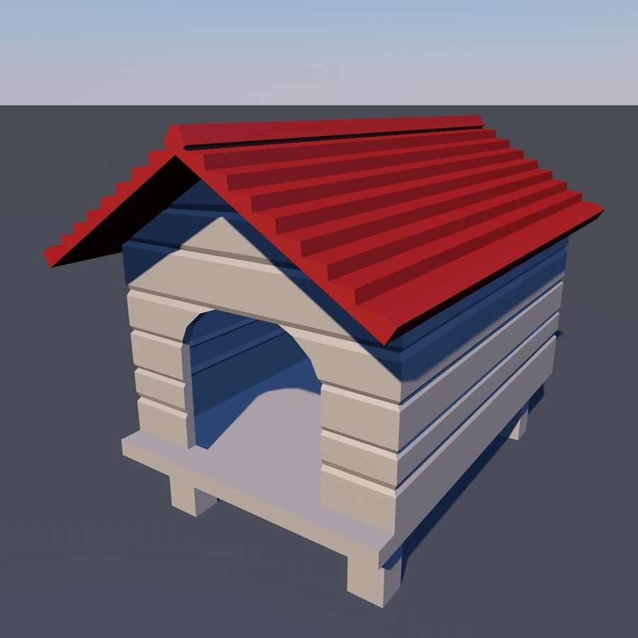 dog house royalty-free 3d model - Preview no. 1