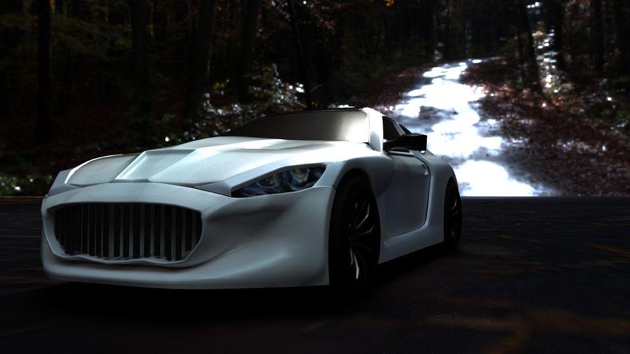 samochód sportowy royalty-free 3d model - Preview no. 3