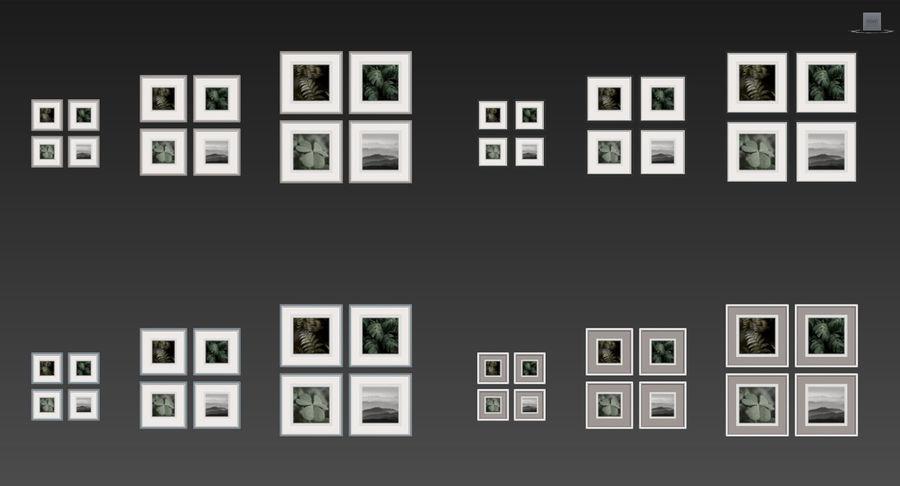 Fotolijsten Set -111 royalty-free 3d model - Preview no. 7