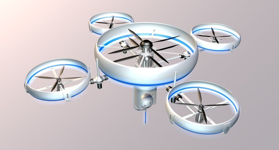 drone royalty-free 3d model - Preview no. 2