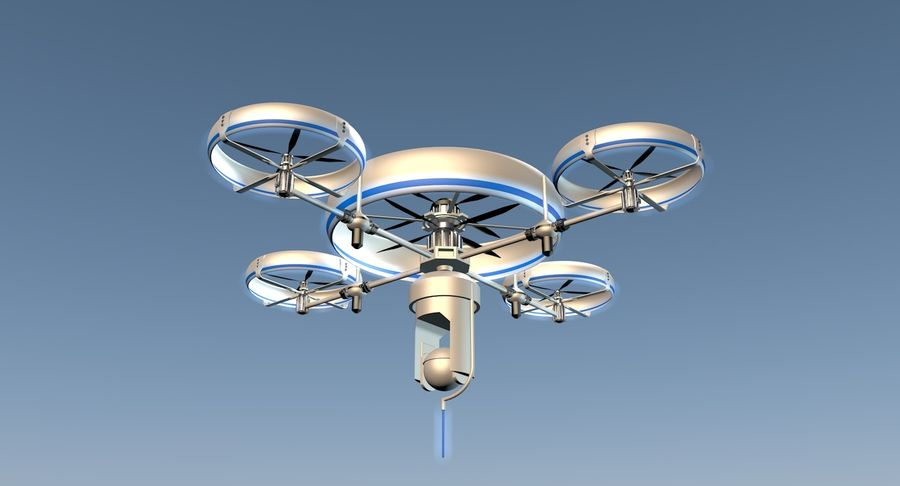 drone royalty-free 3d model - Preview no. 6