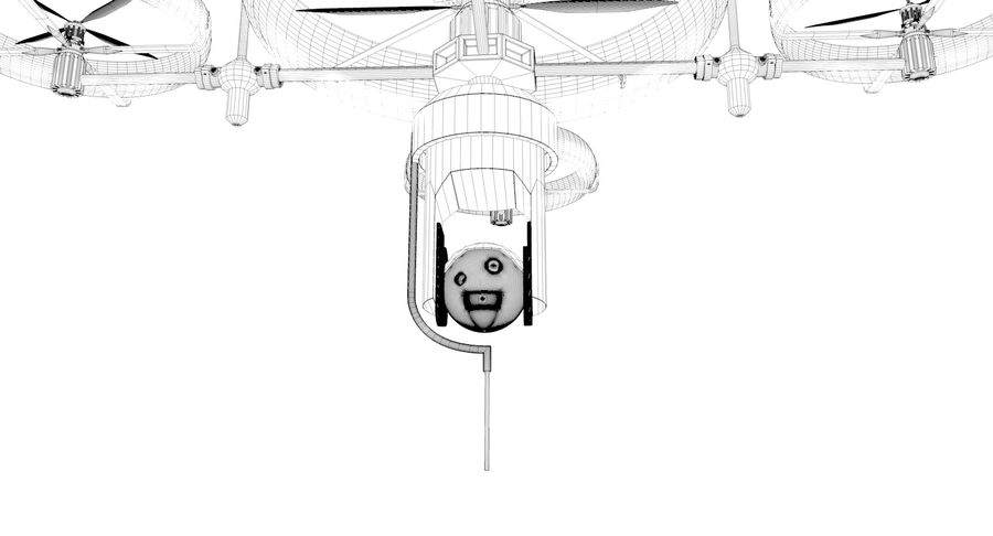 drone royalty-free 3d model - Preview no. 11