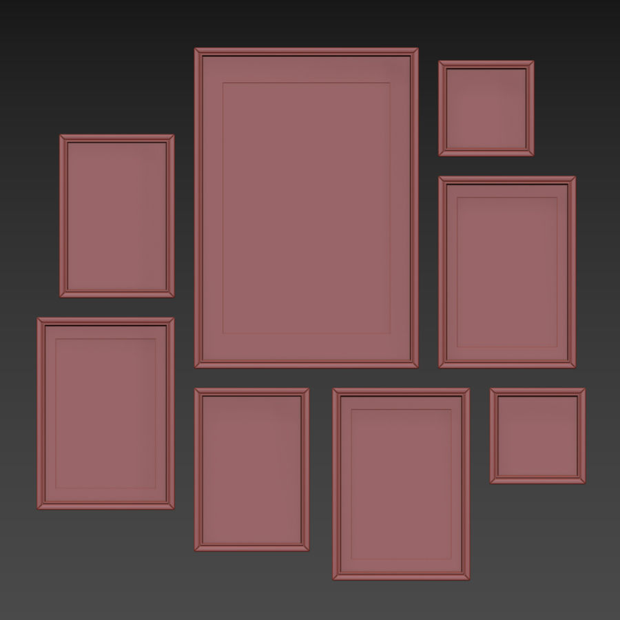 Picture Frames Set -113 royalty-free 3d model - Preview no. 13