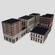 Edifici della città bassa poli 3d model