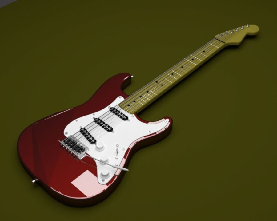 Gitara elektryczna royalty-free 3d model - Preview no. 2