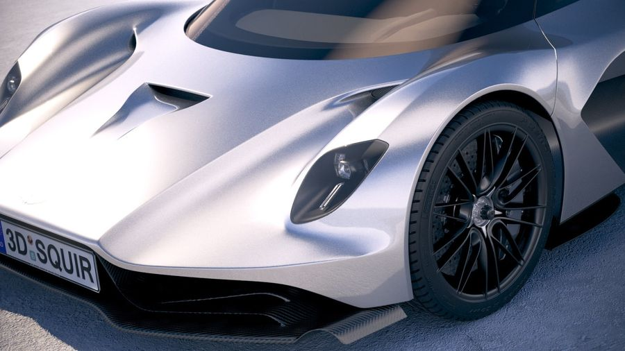 Aston Martin Valhalla 2020 royalty-free 3d model - Preview no. 3