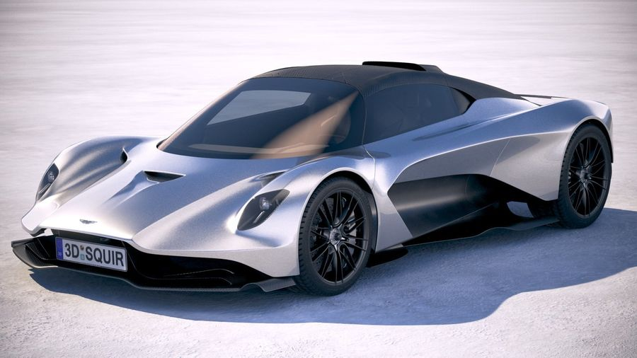 Aston Martin Valhalla 2020 royalty-free 3d model - Preview no. 1