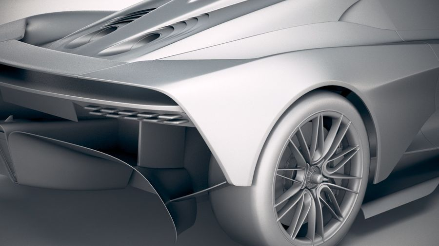 Aston Martin Valhalla 2020 royalty-free 3d model - Preview no. 20
