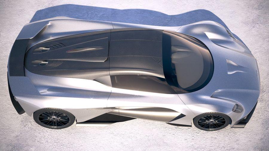 Aston Martin Valhalla 2020 royalty-free 3d model - Preview no. 8