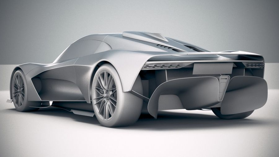 Aston Martin Valhalla 2020 royalty-free 3d model - Preview no. 24