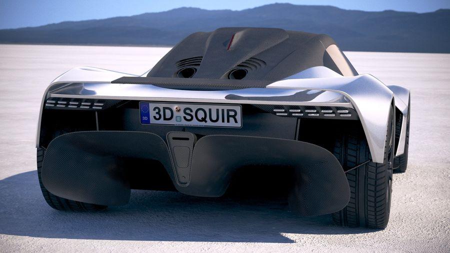 Aston Martin Valhalla 2020 royalty-free 3d model - Preview no. 6