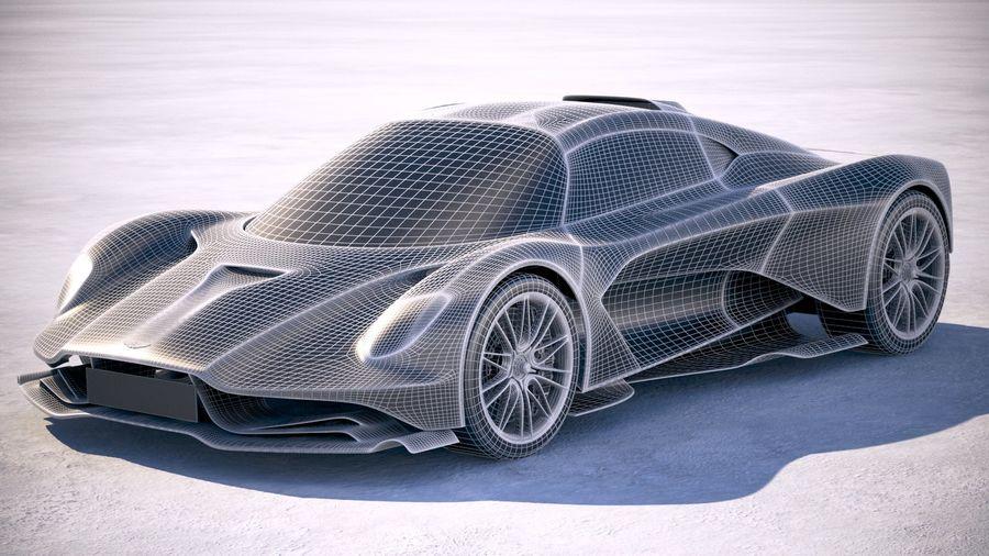 Aston Martin Valhalla 2020 royalty-free 3d model - Preview no. 25