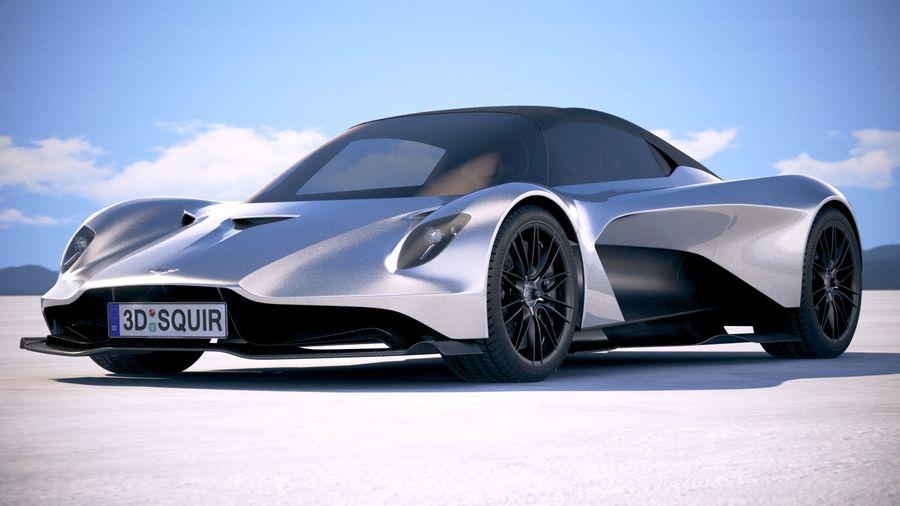 Aston Martin Valhalla 2020 royalty-free 3d model - Preview no. 13