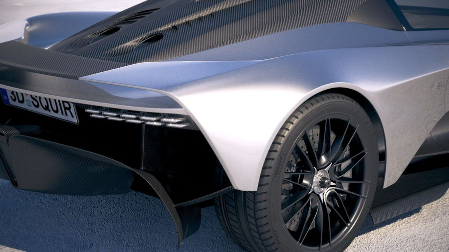 Aston Martin Valhalla 2020 royalty-free 3d model - Preview no. 4