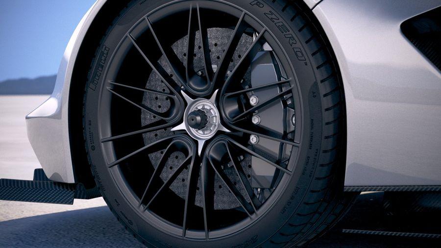 Aston Martin Valhalla 2020 royalty-free 3d model - Preview no. 15