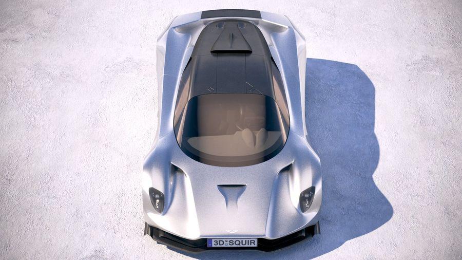 Aston Martin Valhalla 2020 royalty-free 3d model - Preview no. 9