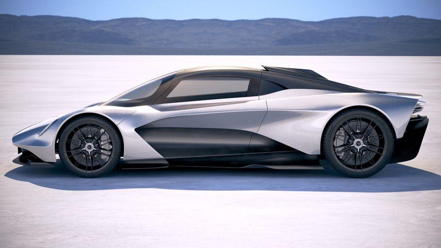 Aston Martin Valhalla 2020 royalty-free 3d model - Preview no. 7