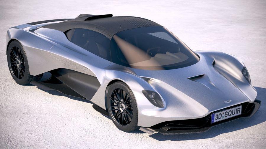 Aston Martin Valhalla 2020 royalty-free 3d model - Preview no. 12