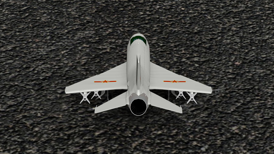 Myśliwiec Chengdu F-7A royalty-free 3d model - Preview no. 4