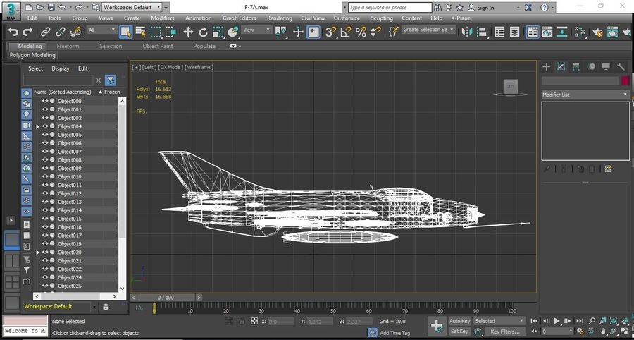 Chengdu F-7A fighter royalty-free 3d model - Preview no. 9