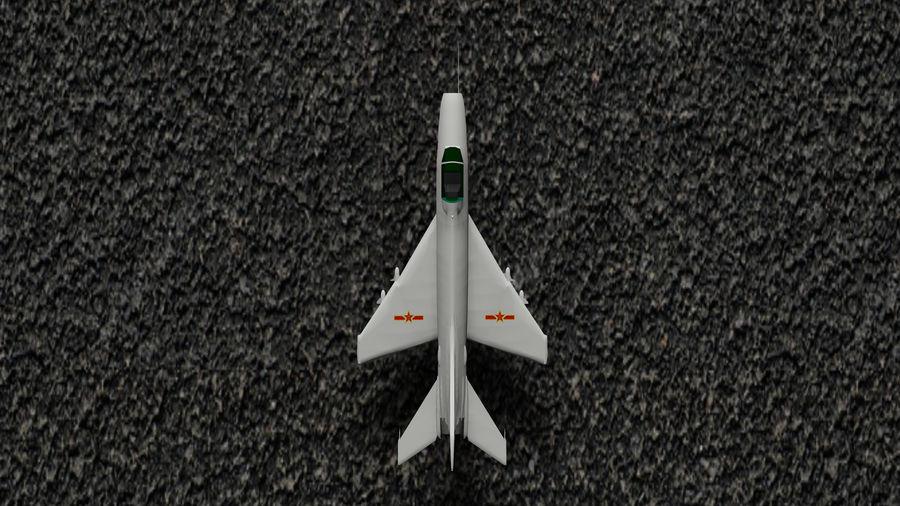 Myśliwiec Chengdu F-7A royalty-free 3d model - Preview no. 5