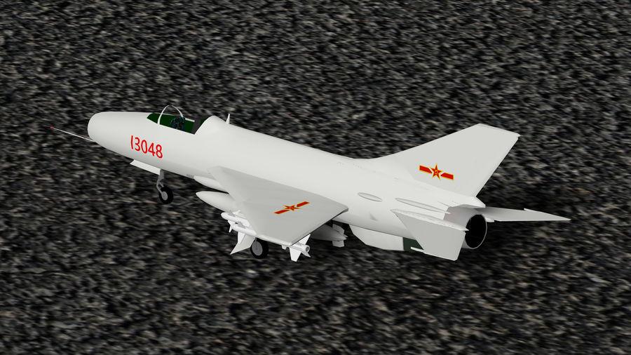 Myśliwiec Chengdu F-7A royalty-free 3d model - Preview no. 2