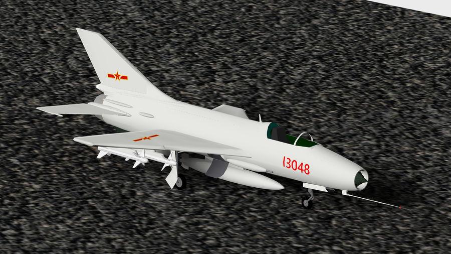 Myśliwiec Chengdu F-7A royalty-free 3d model - Preview no. 1