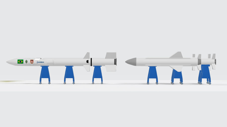 Rakieta Rakieta Avibras Astros II MLRS royalty-free 3d model - Preview no. 1
