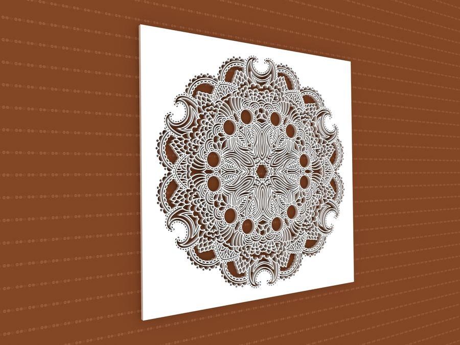 Mandala royalty-free 3d model - Preview no. 1
