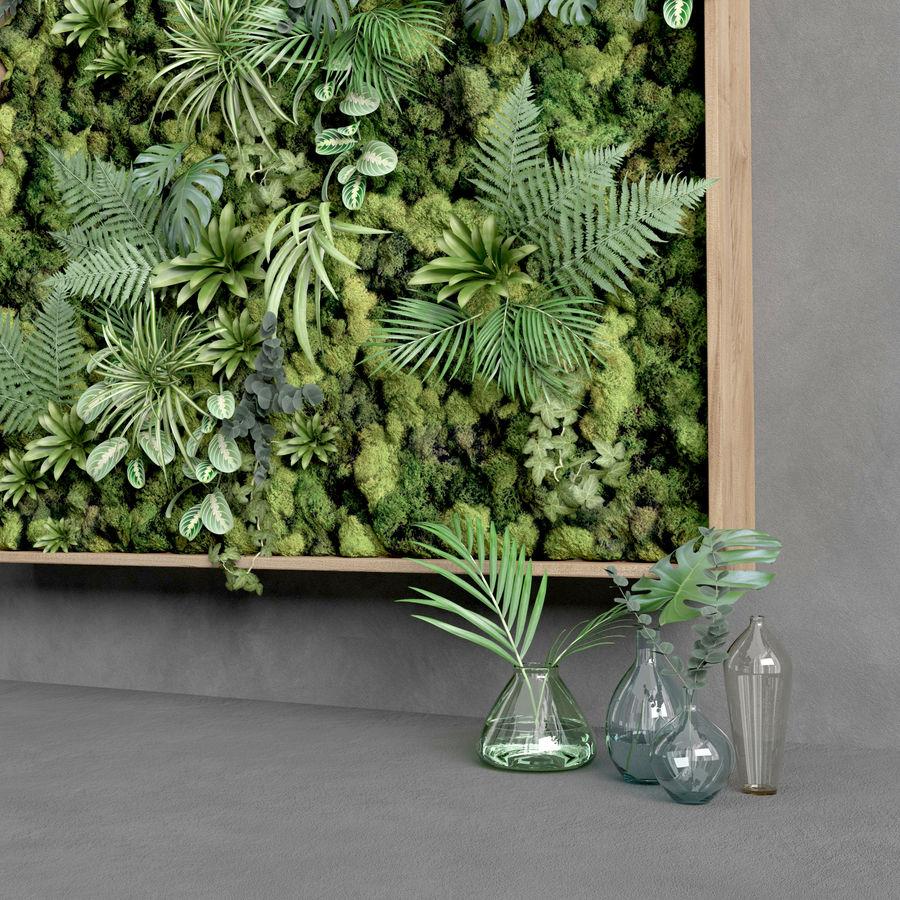 Fyrkantig grön mossuppsättning 150 cm x 150 cm royalty-free 3d model - Preview no. 5