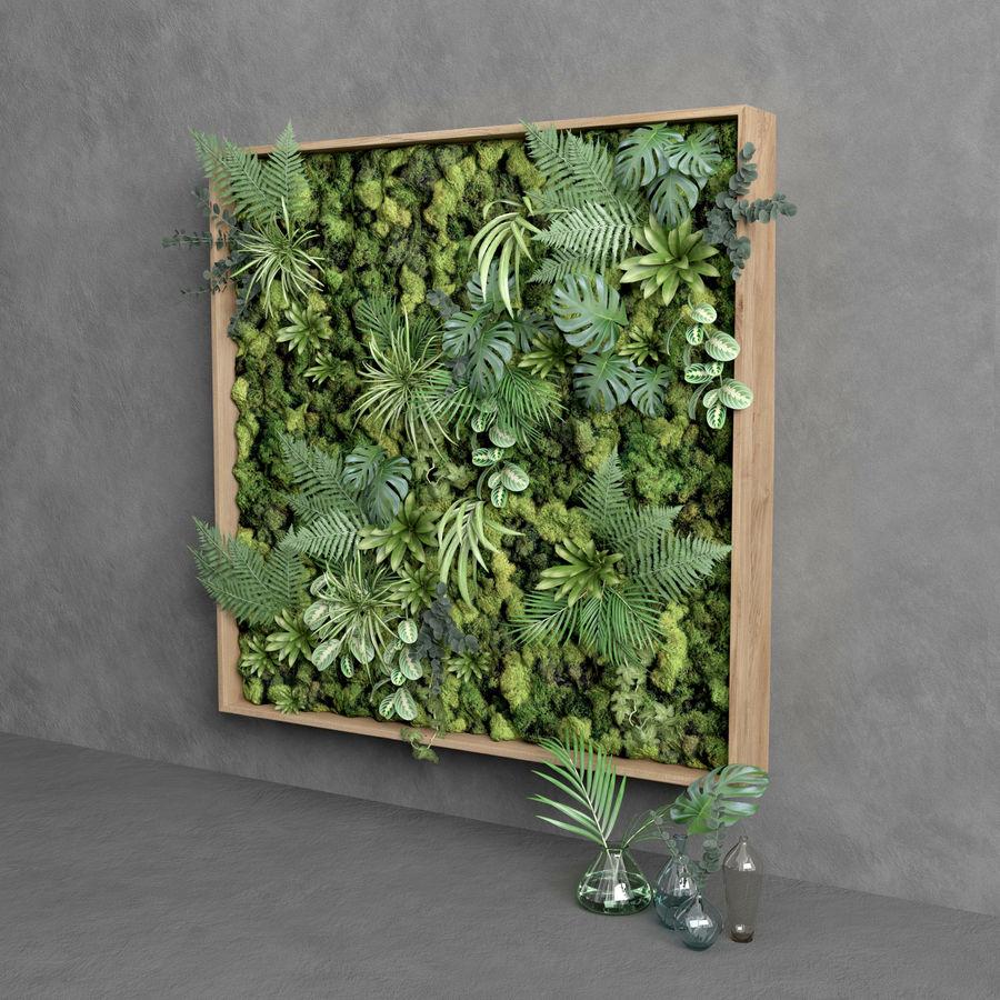 Fyrkantig grön mossuppsättning 150 cm x 150 cm royalty-free 3d model - Preview no. 3