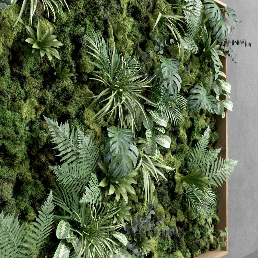 Fyrkantig grön mossuppsättning 150 cm x 150 cm royalty-free 3d model - Preview no. 4