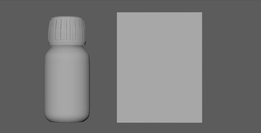iNDUSTRiAL Medical Glass Bottle and box royalty-free 3d model - Preview no. 3