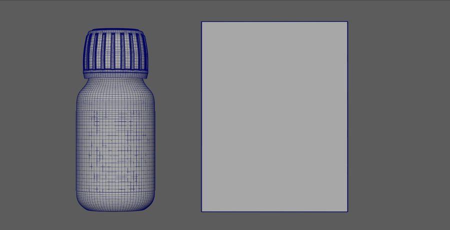 iNDUSTRiAL Medyczna szklana butelka i pudełko royalty-free 3d model - Preview no. 4