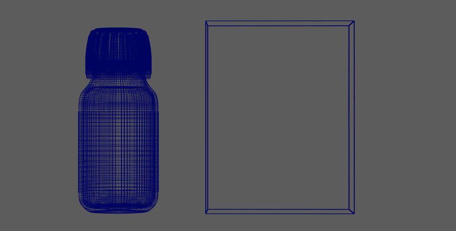 iNDUSTRiAL Medyczna szklana butelka i pudełko royalty-free 3d model - Preview no. 5