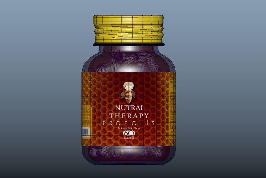 iNDUSTRiAL Medyczna szklana butelka royalty-free 3d model - Preview no. 3