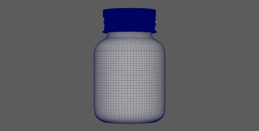 iNDUSTRiAL Medical Glass Bottle royalty-free 3d model - Preview no. 7