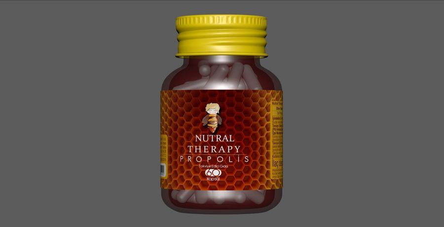 iNDUSTRiAL Medical Glass Bottle royalty-free 3d model - Preview no. 2