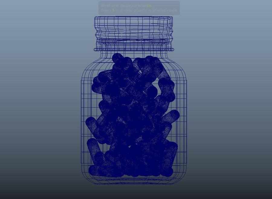 iNDUSTRiAL Medyczna szklana butelka royalty-free 3d model - Preview no. 4