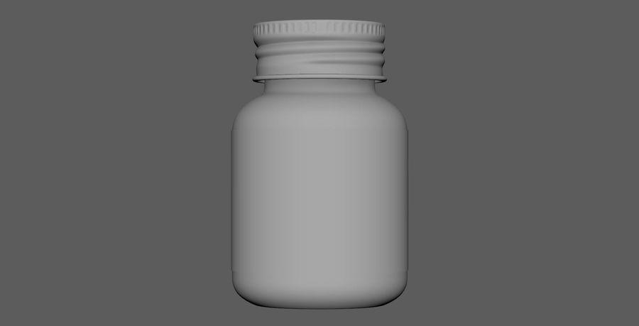 iNDUSTRiAL Medyczna szklana butelka royalty-free 3d model - Preview no. 6