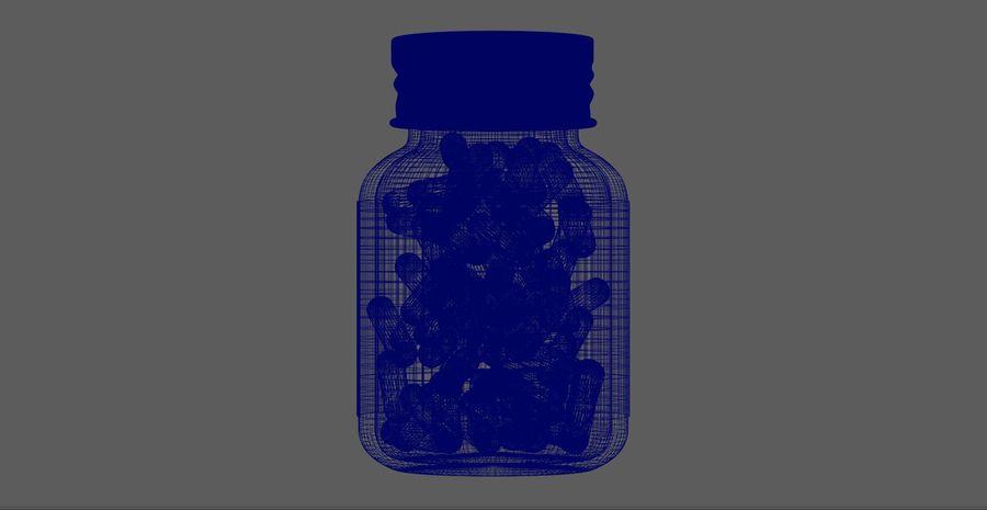 iNDUSTRiAL Medyczna szklana butelka royalty-free 3d model - Preview no. 8