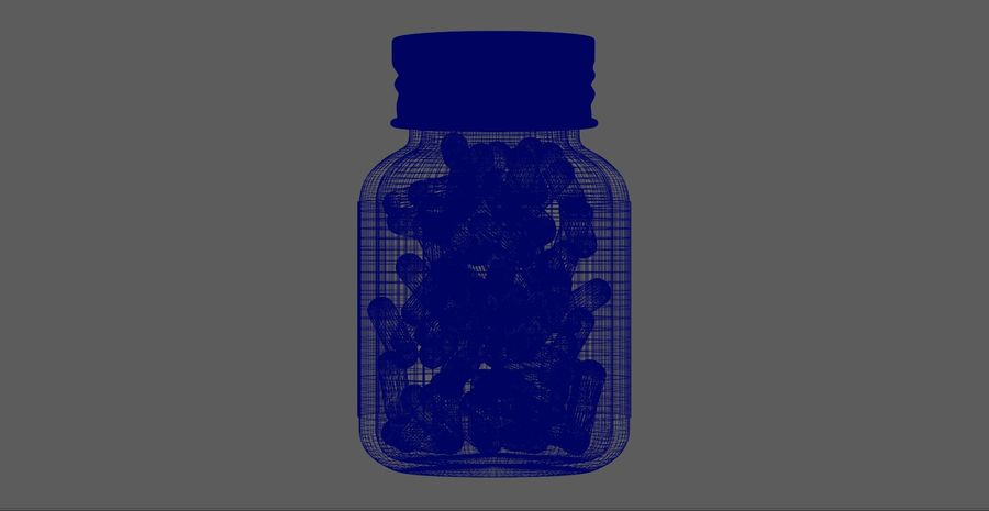 iNDUSTRiAL Medical Glass Bottle royalty-free 3d model - Preview no. 8