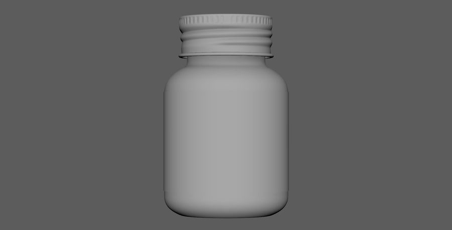 iNDUSTRiAL Medical Glass Bottle royalty-free 3d model - Preview no. 6