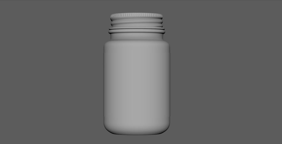 iNDUSTRiAL Medical Glass Bottle royalty-free 3d model - Preview no. 4