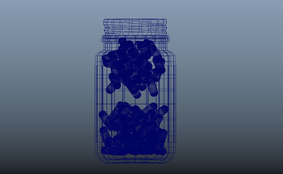 iNDUSTRiAL Medical Glass Bottle royalty-free 3d model - Preview no. 3