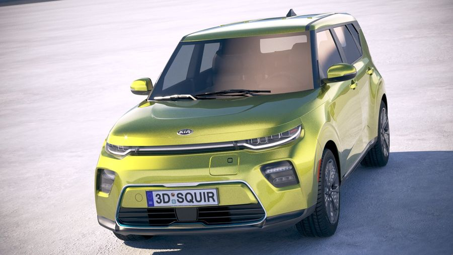 Kia Soul EV 2020 royalty-free 3d model - Preview no. 2