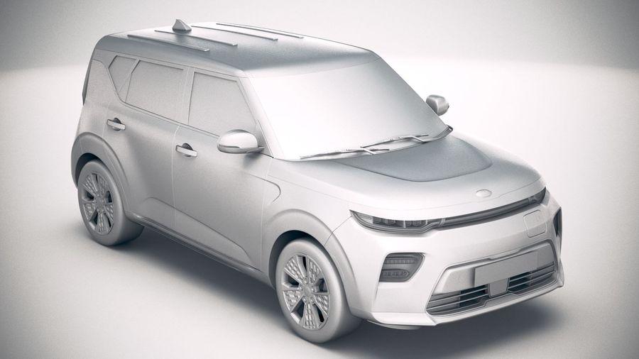 Kia Soul EV 2020 royalty-free 3d model - Preview no. 22
