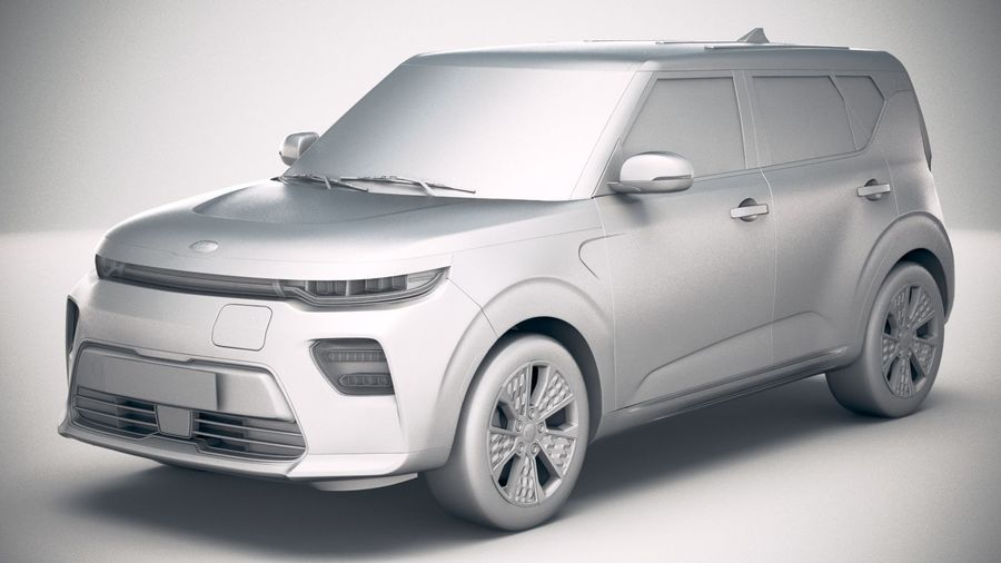 Kia Soul EV 2020 royalty-free 3d model - Preview no. 18